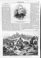 La dernière volonté par Hippolyte Bellangé Peintre d'Histoire Paris GRAVURE 1866