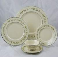 Lenox Brookdale 5 Piece Place Setting Ivory with Silver Trim Multiple Available