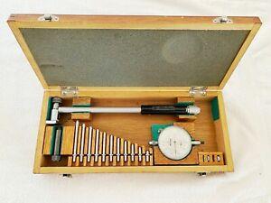 """Mitutoyo 511-162  Inside Dial Bore Gauge 2-4"""" Japan .0001"""" Gage W/ Anvils 511"""