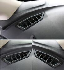 Carbon Fiber Interior Upper Air Vent Outlet Cover Trim 2PCS For Subaru XV 2018