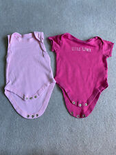 Early Days Baby Girl Vests/bodysuits 3-6 Months X2