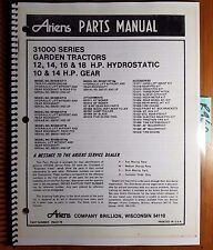 Ariens 31000 Series Garden Tractor 12 14 16 18 HP Hydro 10 14 Gear Parts Manual