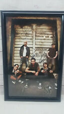 "Simple Plan Autographed Sp Crew Poster Auto Signature 18""x 12"""