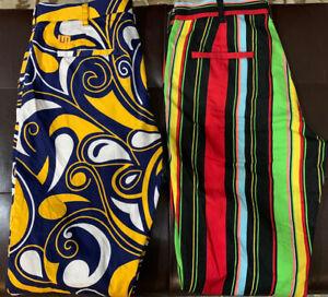Loudmouth Golf Men's Graphic Pants Stripes & Psyhedelic 32x31 Lot Of 2