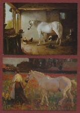 Horses. Smythe. Munnings. Montigny.  Art.   Medici Society postcards k36