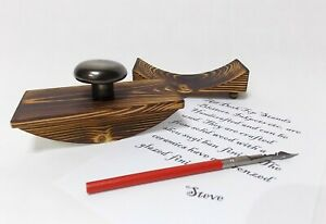 £19.99 Calligraphy ink blotter & stand desk top ink fountain dip blotting holder