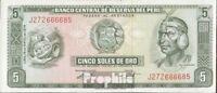 Peru Pick-Nr: 99c (05/1974) bankfrisch 1974 5 Soles