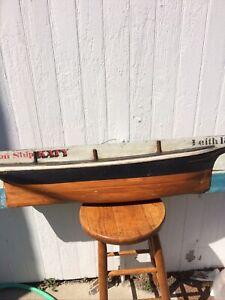 Half Hull Model Iron Ship Katy Leith