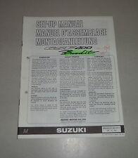 Istruzioni di montaggio/set up manual SUZUKI GSF 400 BANDIT STAND 07/1991