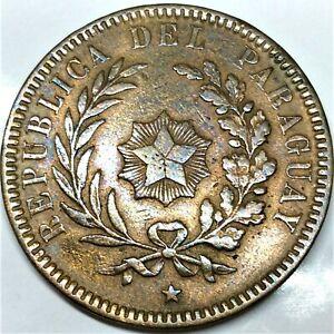 Paraquay 1870 2 centesimos copper