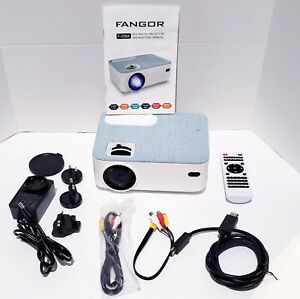 FANGOR HD Bluetooth Projector 4500 Lux Portable LCD Projector 720P Bundled Bag