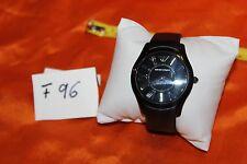 Emporio Armani AR2059 Super Slim Black Dial Black Leather Strap Men's Watch F96