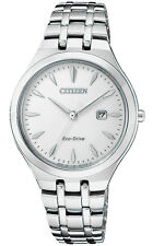 Citizen EW2490-55A Women's Eco-Drive Corso Stainless Steel White Dial Watch