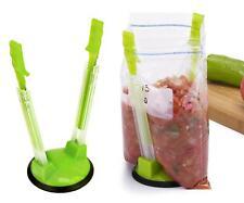 Kitchen Baggy Rack Food Storage Bag Holder - Holds Open Freezer Bags Opener - LD