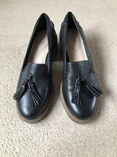 Clarks Somerset Black Leather Loafer Shoes Balmer Haze Size 5.5 UK D Fit
