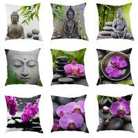Europe Style Zen Printed Sofa Decor Throw Pillow Case Linen Cotton Cushion Cover