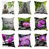 Europe Style Zen Printed Sofa Decor Throw Pillow Case Linen Cotton Cushion Cover