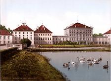 Deutschland, München. Nymphenburg. vintage print photochromie, vintage photoch