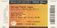 Ticket - Hull City v Manchester United 26.12.13
