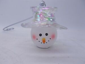 "Home Interiors Snowman Candle Snuffer Christmas Handle 10.5"" Length Homco"