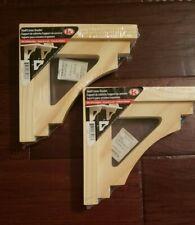 "2 Shelf/Corner Bracket 7"" X 7"" Br Craftsman Pine New In Wrapper"