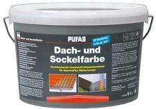 Pufas Dach- und Sockelfarbe 5 L 955 Steingrau