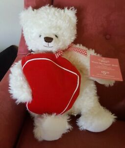 NEW Hallmark From My Heart Teddy Bear Heart Gift Pouch Engagement valentines day