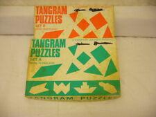 Deux vintage TANGRAM casse-tête pour Enfants-Set A et B, A-9286-DM-W39