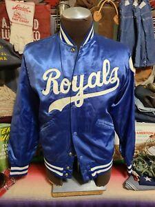 Vintage 70s  Kansas ROyals Satin Felco Union Made USA sports fan baseball jacket