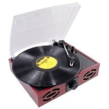 Pyle 3 Speed Retro Wooden Turntable Record Player Rca Vinyl to Mp3 With Software
