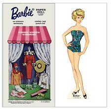 Vintage 1965 Barbie Fashion Window Paper Dolls ~ Rare~ Uncut Laser Reproduction