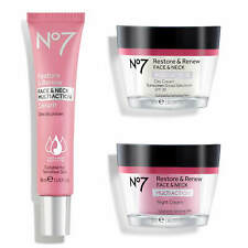 No7 Restore & Renew FACE & NECK MULTI ACTION Day Night Cream & Serum *NEW*