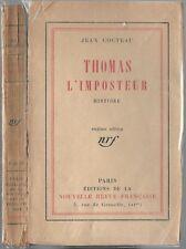 THOMAS L'IMPOSTEUR par Jean COCTEAU Guerre 14-18 Princesse de BORMES Verne 1923