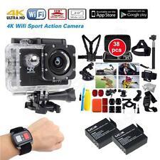 "Waterproof Sj8000 4K 2"" Sport Action Camera+2 Battery+38 in1 Accessories+Remote"