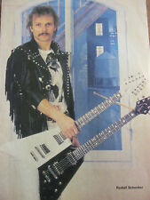 The Scorpions, Rudolf Schenker, Full Page Vintage Pinup
