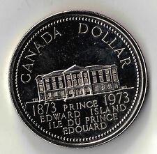 CANADA 1973  $1 DOLLAR  SILVER COIN PRINCE EDWARD ISLAND COMMEMORATIVE PL  DBW