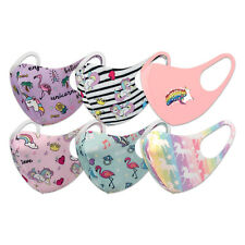 Fashion 3D Face Mask, Washable, Reusable, Breathable, for Kids (Unicorn 6 pack)
