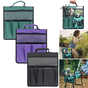 Garden Kneeler Tool Bag Outdoor Work Portable Cart Storage Pouch Toolkit Bag