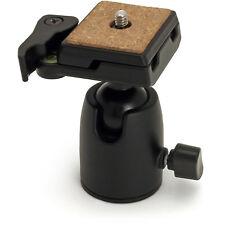 "Black Tripod Ball Head Swivel 1/4"" Mount Quick Release Plate for Camera DSLR"