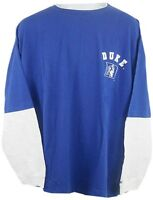 Duke Blue Devils NCAA Mens Long Sleeve Shirt Royal Blue Big Sizes