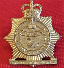 1953-1960 CITY PERTH AUSTRALIAN ARMY 11/44TH BATTALION BRASS UNIFORM CAP BADGE