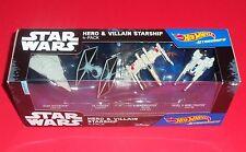 Hot Wheels Star Wars Starships - New - Hero & Villain - 4-Pack - U-Wing, X-Wing