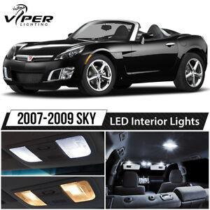 2007-2009 Saturn Sky White LED Lights Interior Package Kit