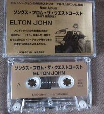 Promo-only! ELTON JOHN Songs From The West Coast JAPAN CASSETTE w/Pic Sleeve