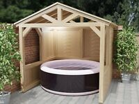 Garden Spa or Hot Tub Shelter Lazy Spa Canopy (Build Plans Only No Materials)