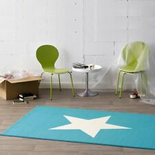 Design Velours Tapis étoile bleu crème 140x200 cm 102039