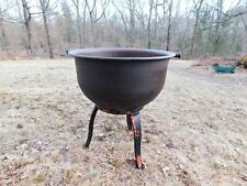 Giant Vintage Cast Iron Cauldron Kettle, Warranted 45 Gallon, Garden Flower Pot