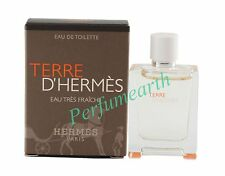 Terre D'hermes Eau Tres Fraiche  0.17oz./5ml Edt Mini Splash For Men New In Box