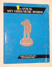 MTV 1st Annual Video Music Awards Program 1984 Bowie Madonna Ric Ocasek Jackson
