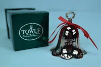 "Towle Silversmith 1999 Annual Silver-Plated Christmas Bell 3.5""h w Original Box"